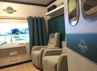 Vue intérieure du wagon Grand-Via
